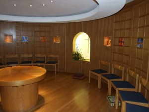 The Chapel is available for private prayer and reflection