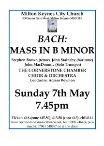 Bach: Mass in B minor @ The Church of Christ the Cornerstone