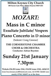 Mozart: Mass in C minor @ The Church of Christ the Cornerstone