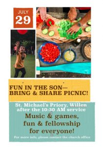 'Fun in the Son' – Bring & Share Picnic @ St Michael's Priory